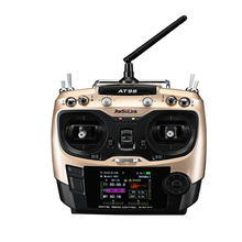 F18528 AT9S 2.4G 10CH R9DS Receptor 9CH Transmisor FHSS DSSS Radio Controlador PWM S-BUS para RC Heli/Multicopter de coche