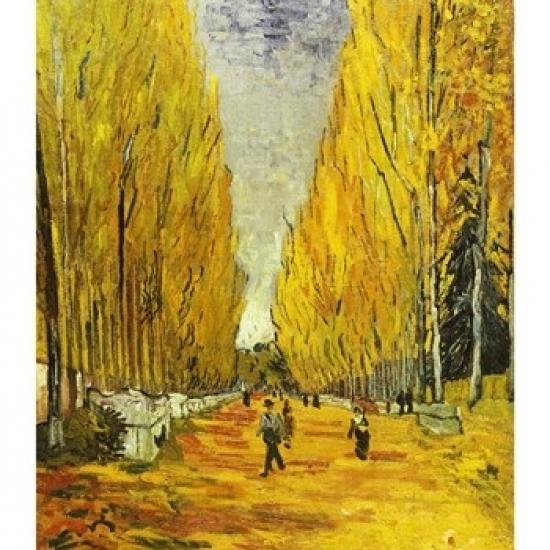 L'Allee des Alyscamps  Arles  1888 Poster Print by Vincent Van Gogh (18 x 24)