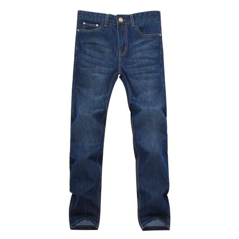 ФОТО Men's Jeans Straight Jeans Large Size Casual Trousers Brand Fashion Denim Pant Autumn  Winter Classic Style Long Pants Gent Life