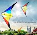 O envio gratuito de alta qualidade 2 m rainbow de linha dupla de dublês parafoil pipas com linha punho diversão ao ar livre esportes volante kiteboard wei