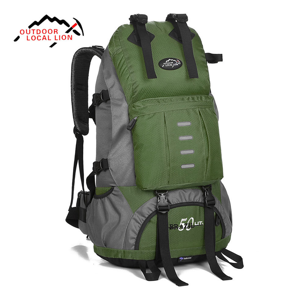 LOCAL LION 50L Outdoor Mountaineering Bag Sport Hiking Backpack Waterproof Trekking Climbing Bag for Men Women Travel Trekking