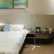 10W Touch Dimmer Tripod Gooseneck Wireless Remote Control Floor Stand Lamp Indoor Room Office 5 levels of brightness