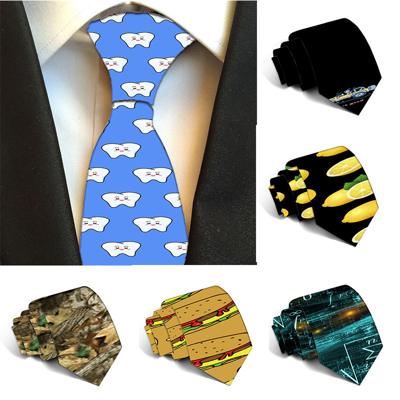 New 10 Styles Polyester Ties For Men 8cm Classics Gravata Business Lemon Pattern Mens Necktie Luxury Wedding Accessories 5S-LD23