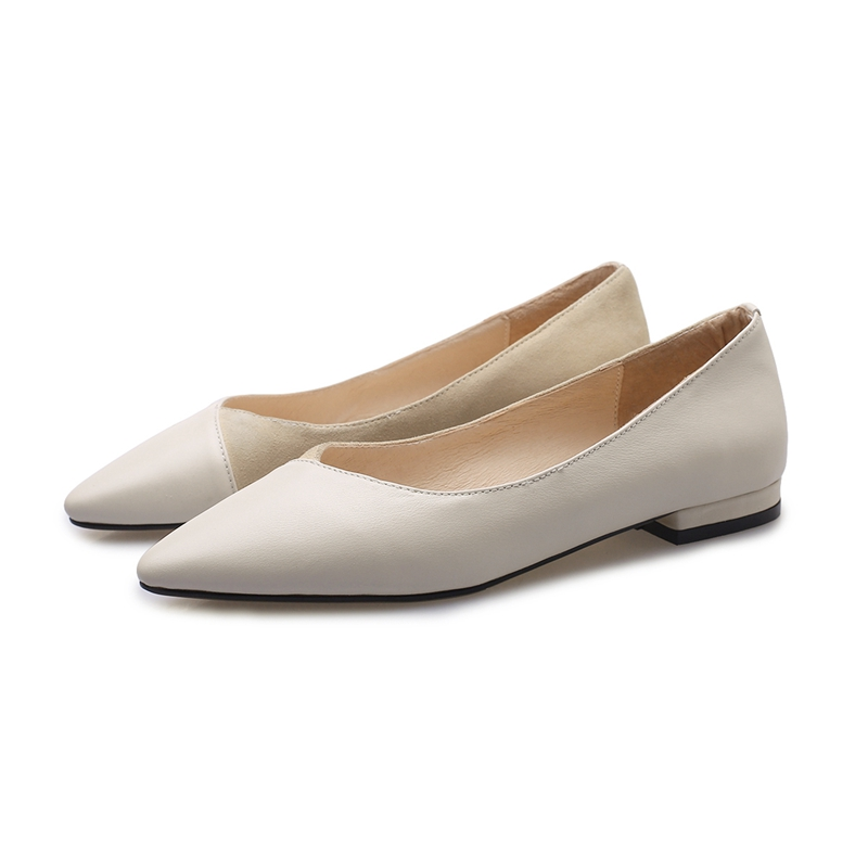 Women Shoes Flats Solid Pointed Toe