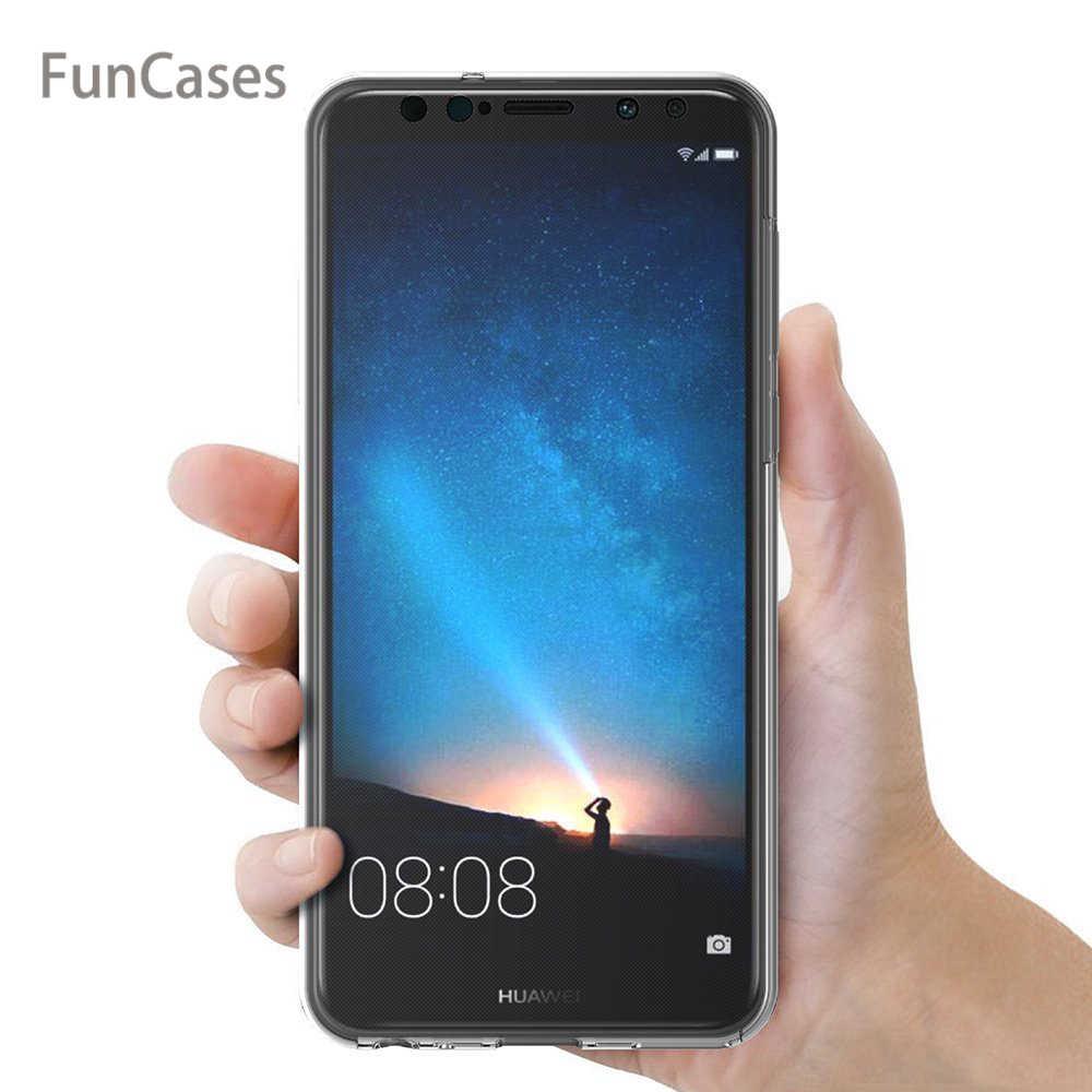 Para Huawei Nova 2i/Mate 10 Lite/Maimang 6 funda 360 grados cubierta completa suave transparente a prueba de golpes transparente cubierta de silicona