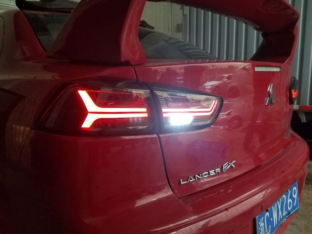 Free shipping China VLAND Car led tail lamp For 2008 2012 2015 Mitsubishi Lancer Ex Taillight With led Moving Signal light smoke free shipping vland car tail lamp for toyota camry led taillight 2015 2016 drl signal reverse lamp