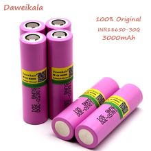 2019 Daweikala original for Samsung 18650 battery 3000 MAH INR 18650 - 30Q 20A Li ion rechargeable battery for electronic cigare(China)