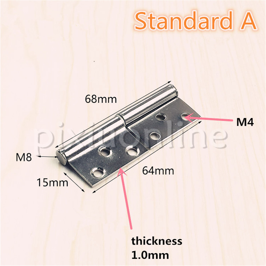 DS340b Flag shaped Stainless Steel Furniture Hinge Length