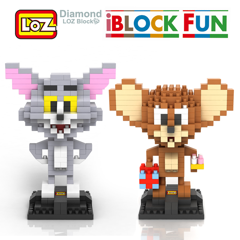 LOZ Tom and Jerry Assembly Toy Cat Mouse Diamond Blocks iBlock Fun Classic Cartoon 14+ 9446 9445 Birthday Party Supplies Toy