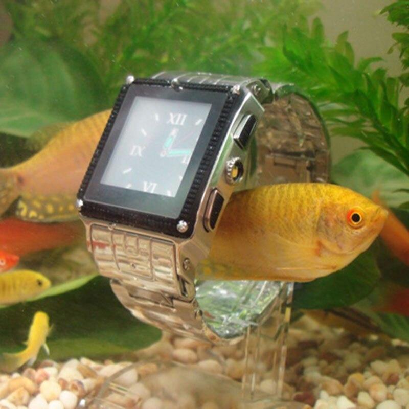 imágenes para Skf818 ip67 a prueba de agua smart watch bluetooth cámara de pantalla táctil del teléfono con la tarjeta sim de desbloqueo gsm teléfono se puede nadar con él