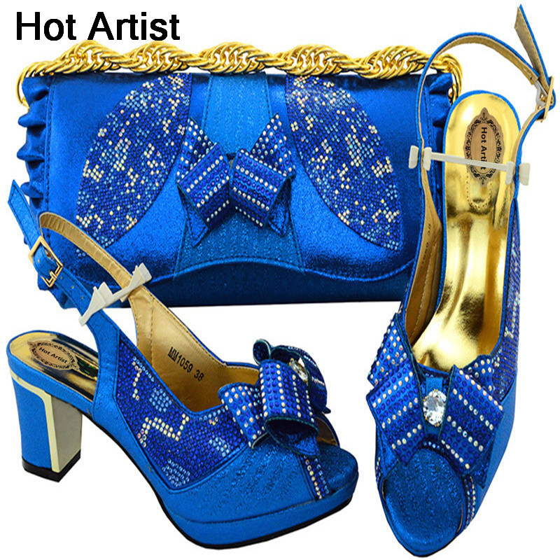 Hot Artist 2018 Nigeria Party Shoes And Bag Set New Royal Blue Color Middle Heels Shoes And Bag To Match Set For Wedding MM1059 banking reforms and banks stability in nigeria 1986 2009