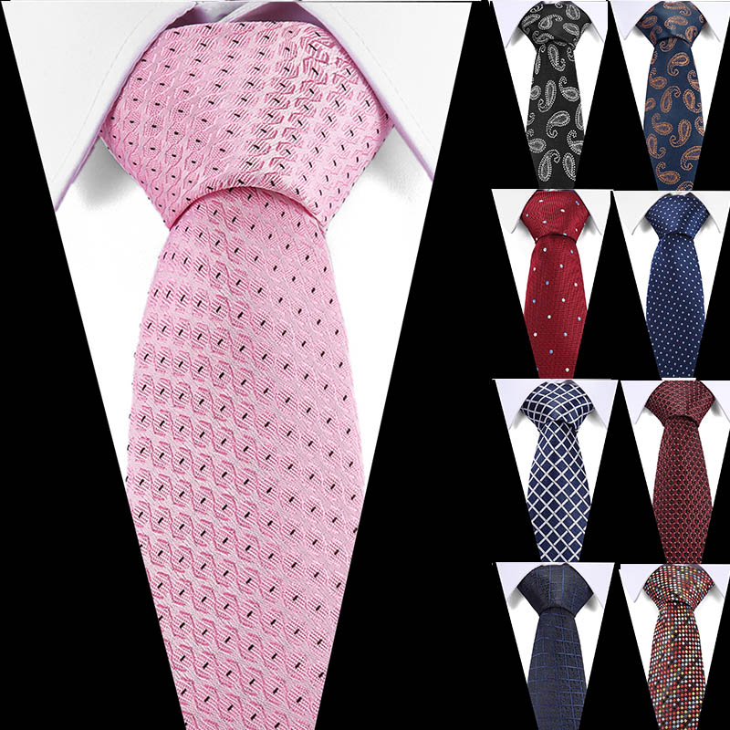 100% Silk Tie Skinny 7.5 Cm Floral Necktie High Fashion Polka Dot Ties For Men Slim Cotton Cravat Neckties Mens 2019 Gravatas