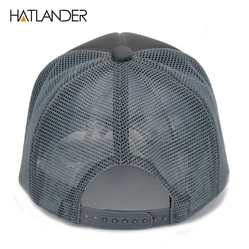 HATLANDER brand casual mesh baseball caps for women summer sun hats curved  snapbacks casquette outdoor mesh trucker cap for men-in Baseball Caps from  ... 57a8727b22c0