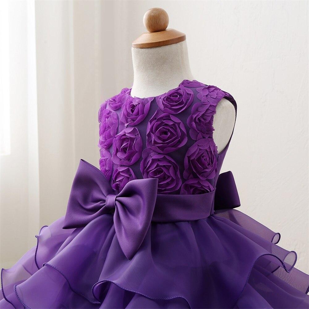 Blumenmädchen Lila Kleid Für Hochzeit Kinder Kleidung Kleid für ...