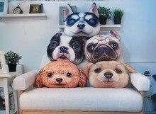38×48 см Большой размер 3D Shapi Teddy Dog подголовник креативный диван с мультипликационным героем офисная Подушка для сна моющаяся подушка для заднего сиденья автомобиля