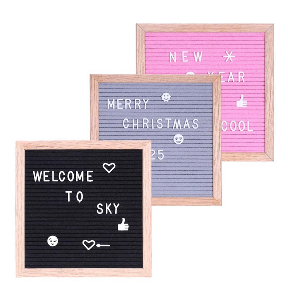 Wooden Photo Frame Handmade Letter Board With Letters Decoration Message Felt Board Sign Pine Frame