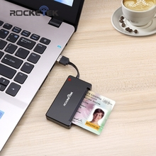 Rocketek USB 2.0 Smart Card Reader CAC ID,Bank card,sim card cloner connector cardreader adapter computer pc laptop accessories(China)