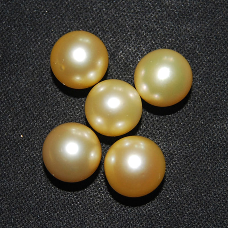 11-12mm AAA Round Half Hole Natural Real Natural Gold Sea Water South Sea Pearl for Pendent11-12mm AAA Round Half Hole Natural Real Natural Gold Sea Water South Sea Pearl for Pendent