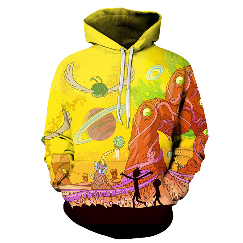 Rick and Morty Sweatshirts 3D Printed Men Hoodie Tracksuits Male Streetwear Unisex Lovely Anime Comic Cartoon Hooded 14 Style