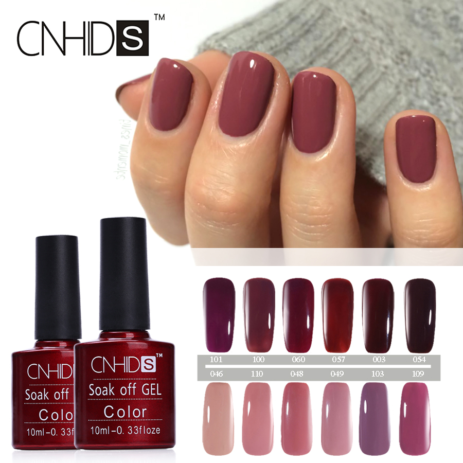 CNHIDS Color Coat Nail Gel Polish Dark Red Wine Series Nail Polish ...