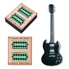 2 unids/caja cerámica verde imán pastillas Humbucker guitarra eléctrica para Gibson Les Paul