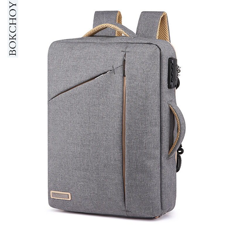 Laptop Backpack with Password lock 15 Inch Hidden Strap Portable Bag New Fashion Minimalism Leisure Anti Thief Travel Backpack
