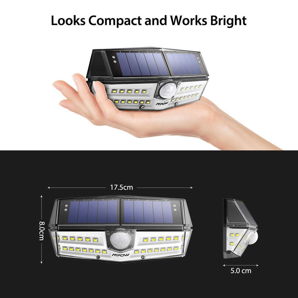 Mpow CD137 30 светодиодный солнечный свет движения датчик солнечной лампы IPX7 водонепроницаемый уличные садовые на солнечных батареях панель света с 30000 H срок службы