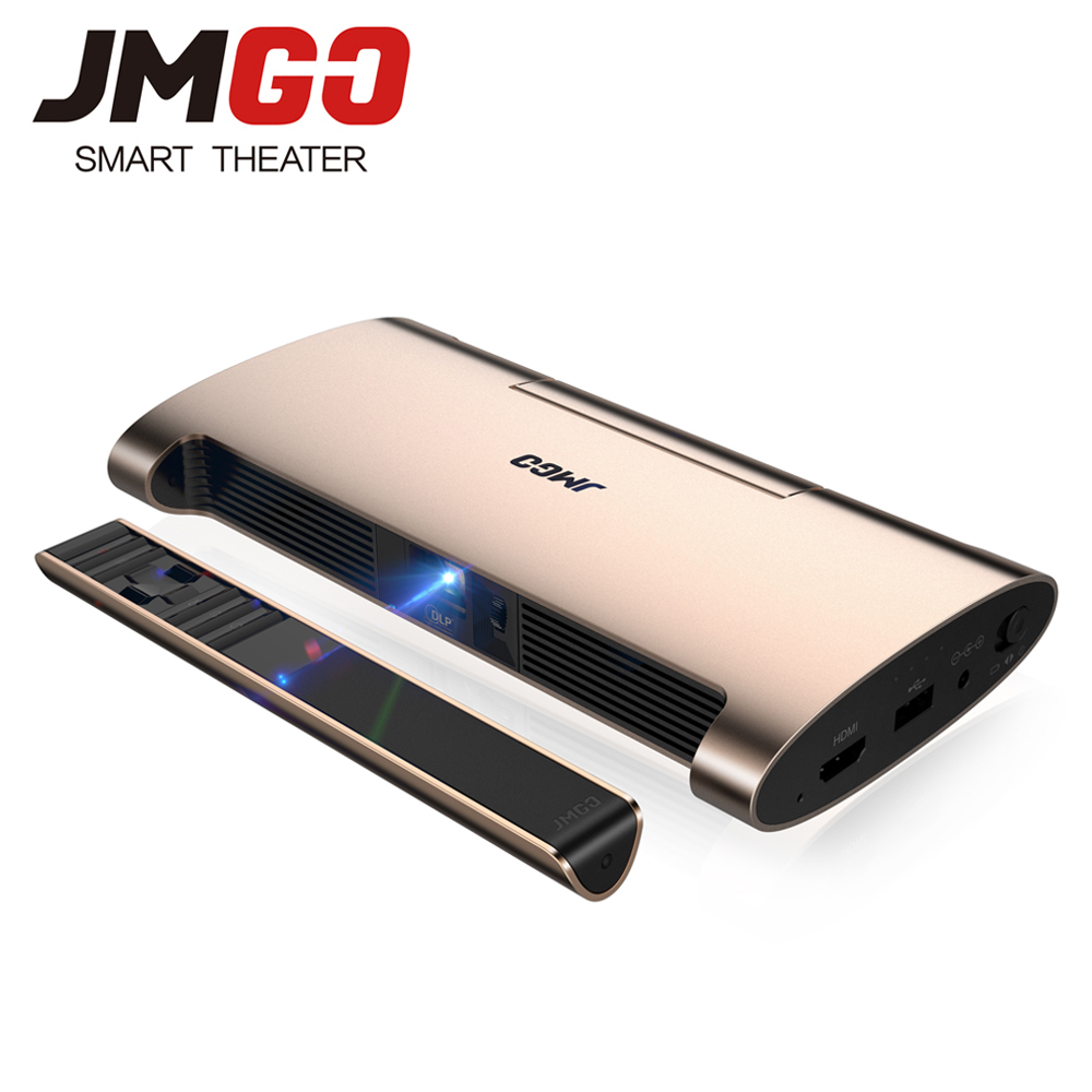 JMGO M6 Pico Projector Android 7.0 200 ANSI Lumens Support Full HD 1080P 3D WIFI Bluetooth HDMI Portable Projector gigxon g700a android portable mini projector support full hd level 1920x1080pixels 1200 lumens led projector