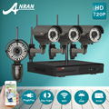 1 TB HDD 4CH NVR Sistema CCTV Kit Plug And Play 720 P HD H.264 IR Varifocal Al Aire Libre de 2.8mm-12mm Cámara IP WIFI Seguridad Para El Hogar