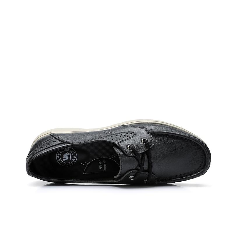 الجمل أحذية نسائية الربيع الصيف جديد جلد طبيعي خفيفة الوزن مريحة السيدات لينة MD تسولي أحذية نسائية-في أحذية نسائية مسطحة من أحذية على  مجموعة 2