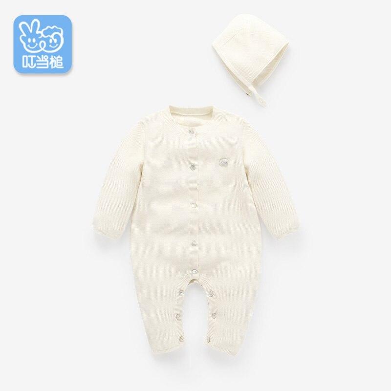 Dinstry'nin yeni bir körpə bow baby jumpsuit, oğlan və qızlar - Körpələr üçün geyim - Fotoqrafiya 4