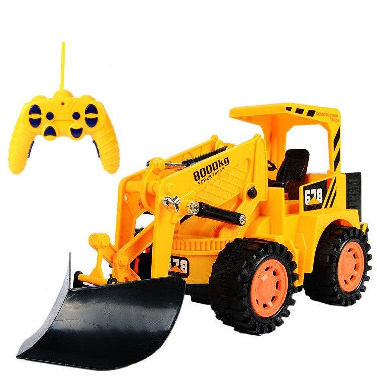 Elektroautos Spielzeug 6 Kanäle Wireless Fernbedienung Fahrzeug Freies Verschiffen Durchsichtig In Sicht Engineering Bagger Fahrzeuge 1:10 Bulldozer