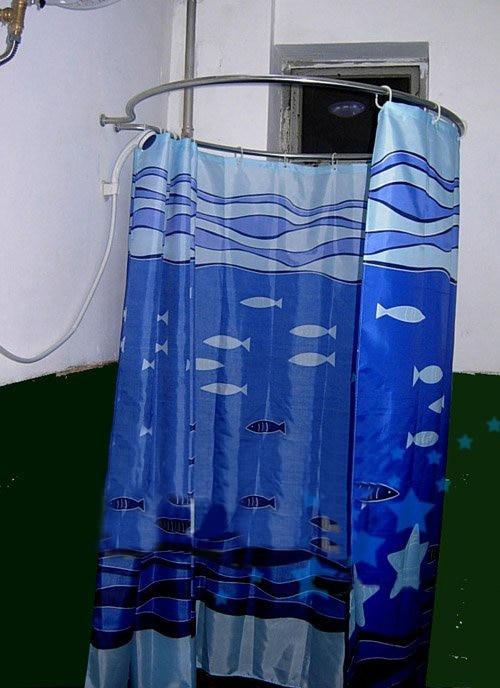 Calidad de acero inoxidable ducha circular barra de la for Barra cortina ducha ikea
