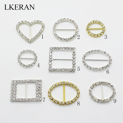 New 10pcs Variety large size Rhinestone Buckles Diamante Ribbon Slider Wedding Invitation card Decoration buckles metal crystal