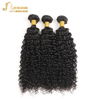 Joedir Natural Black Afro Kinky Curly Human Hair Extensions 3 Bundles/Lot Hair Bundles Wavy Brazilian Hair Weave Bundles
