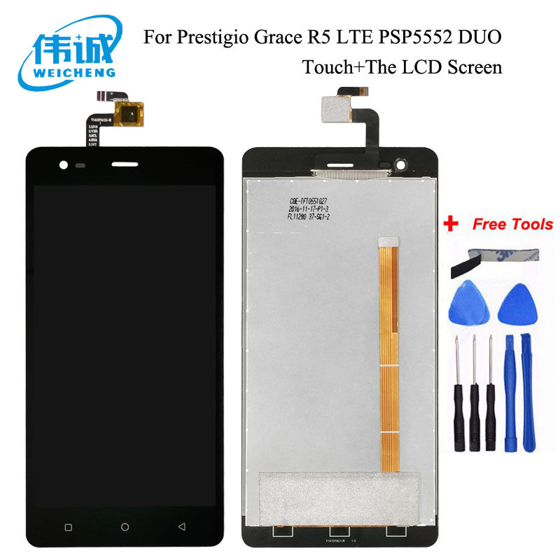 WEICHENG For Prestigio Grace R5 LTE <font><b>PSP5552DUO</b></font> PSP 5552 PSP5552 LCD Display+Touch Screen Digitizer Assembly Repair Parts+Tools image