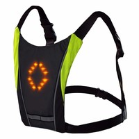 Reflective Riding Safety Vest Outdoor Waterproof 48 LED Turn Signal Vest Outdoor Running Night Walking Cycling Vest Backpack