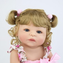 55cm Full Silicone Vinyl Reborn Baby Doll Princess Realistic Newborn Bebe Alive Children Birthday Gift GirlsPlay House Bathe Toy