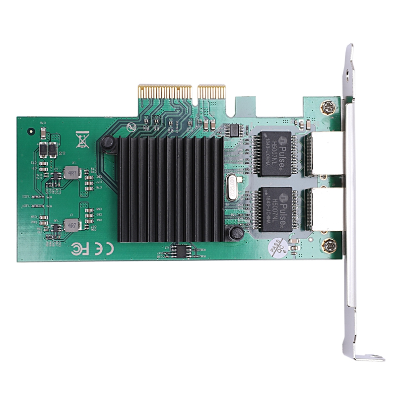 Network Card For For Intel82575 Server Chipset Gigabit Pci-Express Network Card 1000M Pci-E Double Rj45 Port Nic Adapter(China)