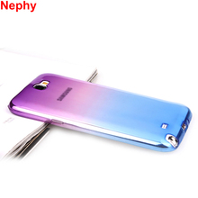 Nephy Cell phone Case For Samsung Galaxy note 2 3 4 5 Cover note2 note3 note4 note5 Duos Silicon Ultrathin Clear Fundas
