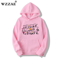 2018 Trendy Faces Stranger Things Hooded Mens Hoodies and Sweatshirts Oversized for Autumn with Hip Hop Winter Hoodies Men Brand 4