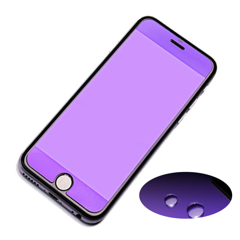2 5D 9H Hardness HD Anti blue Light Tempered Glass Fit For iPhone 6 6s 7 8 Protector Glass For iPhone 8 7 6 6s plus in Phone Screen Protectors from Cellphones Telecommunications