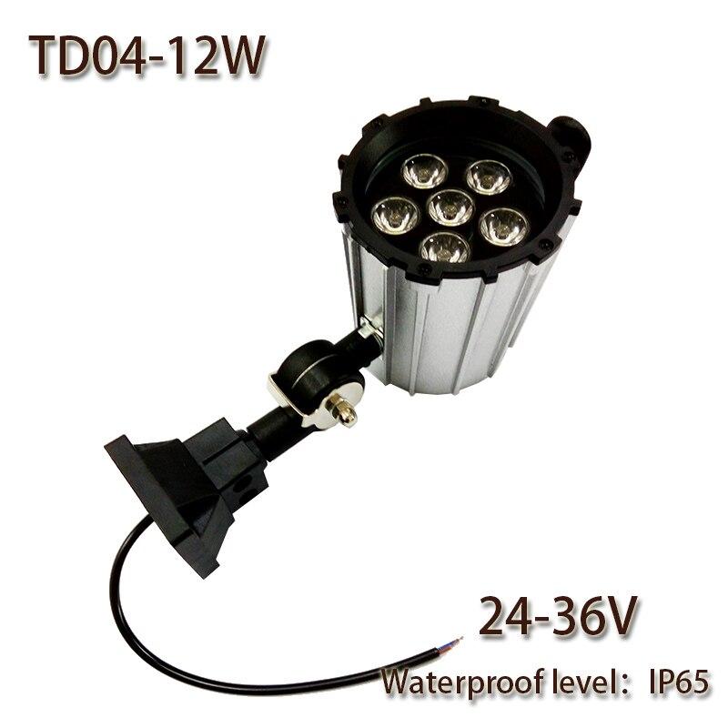 HNTD 12W DC 24V/36V TD04 LED Short Arm Fold waterproof work light CNC machine tools lighting led spotlights IP65 Free shipping