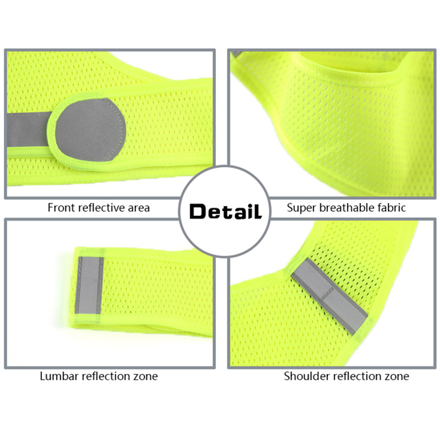 High Visibility Reflective Vest Unisex Outdoor Safety Vests Cycling Vest Men Working Night Running Sports Outdoor Clothes Women