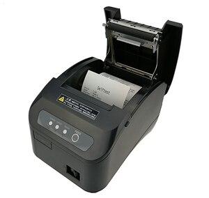 Image 3 - Высокое качество 80 мм POS термопринтер чеков, автоматическая режущая машина, скорость печати, USB + порт последовательного/Ethernet, можно выбрать