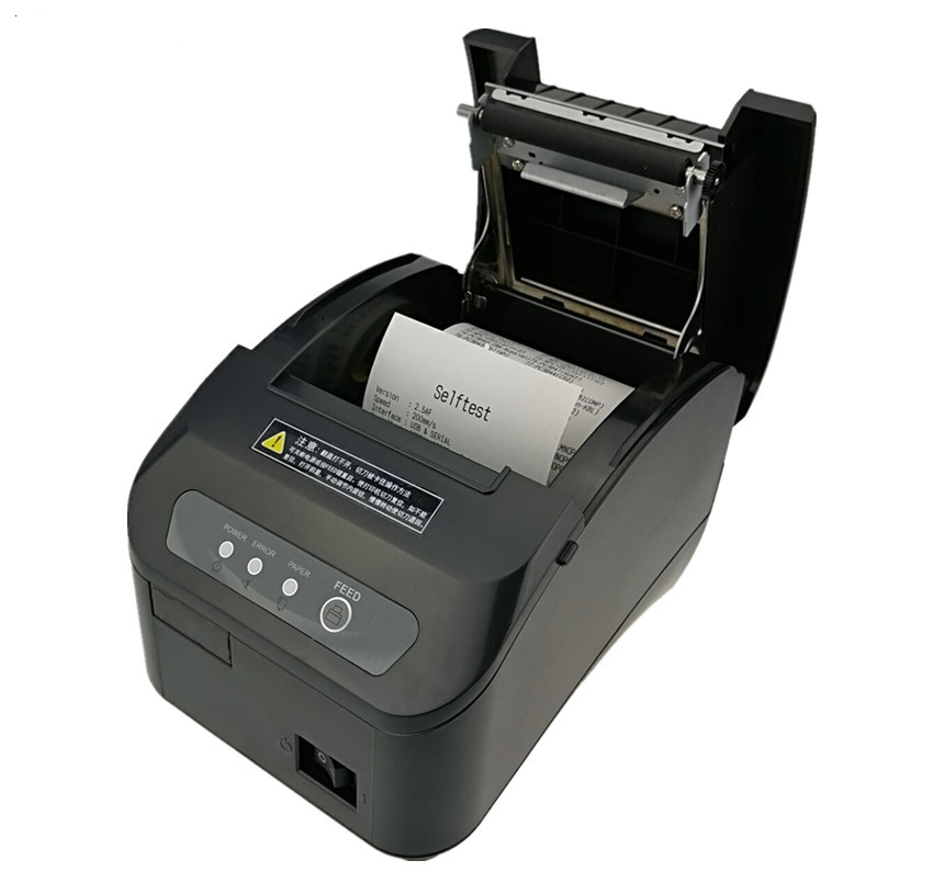 High quality 80mm POS thermal receipt printer automatic cutting machine printing speed Fast USB+Serial/Ethernet port can choose