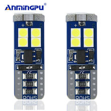 ANMINGPU Signal Lights 2x T10 Led Bulb White Error Free 3030 SMD 12V 6000k W5W Led Canbus Clearance Lights Reading Interior Lamp(China)