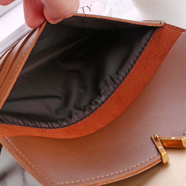 Long V Women Leather Bifold Wallet High Quality Hasp ID Card Holder Billfold Clutch Purse Zip Pocket 4