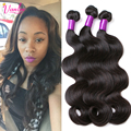 7A peruana Virgin Hair Body Wave 3 Bundles Virginal Sin Procesar Onda del Cuerpo del pelo de Remy Bundles Armadura Del Pelo Humano Ondulado Aliexpress REINO UNIDO