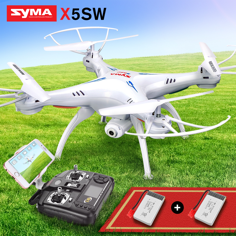 SYMA X5SW Quadcopter RC Drone With Camera Wifi FPV Real Time Transmission RC Helicopter Headless Mode Drones Toys For Children wltoys v686g 4ch 5 8g fpv real time transmission 2 4g rc quadcopter with 2 0mp camera headless mode auto return function us plug